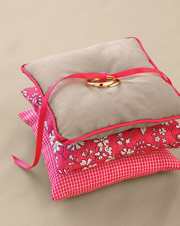 Ring Pillow with Ribbon