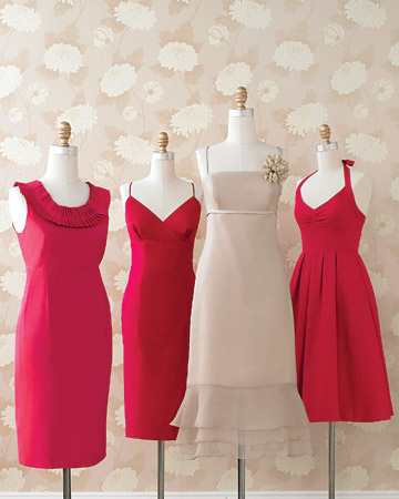 Fuchsia and Taupe Dresses