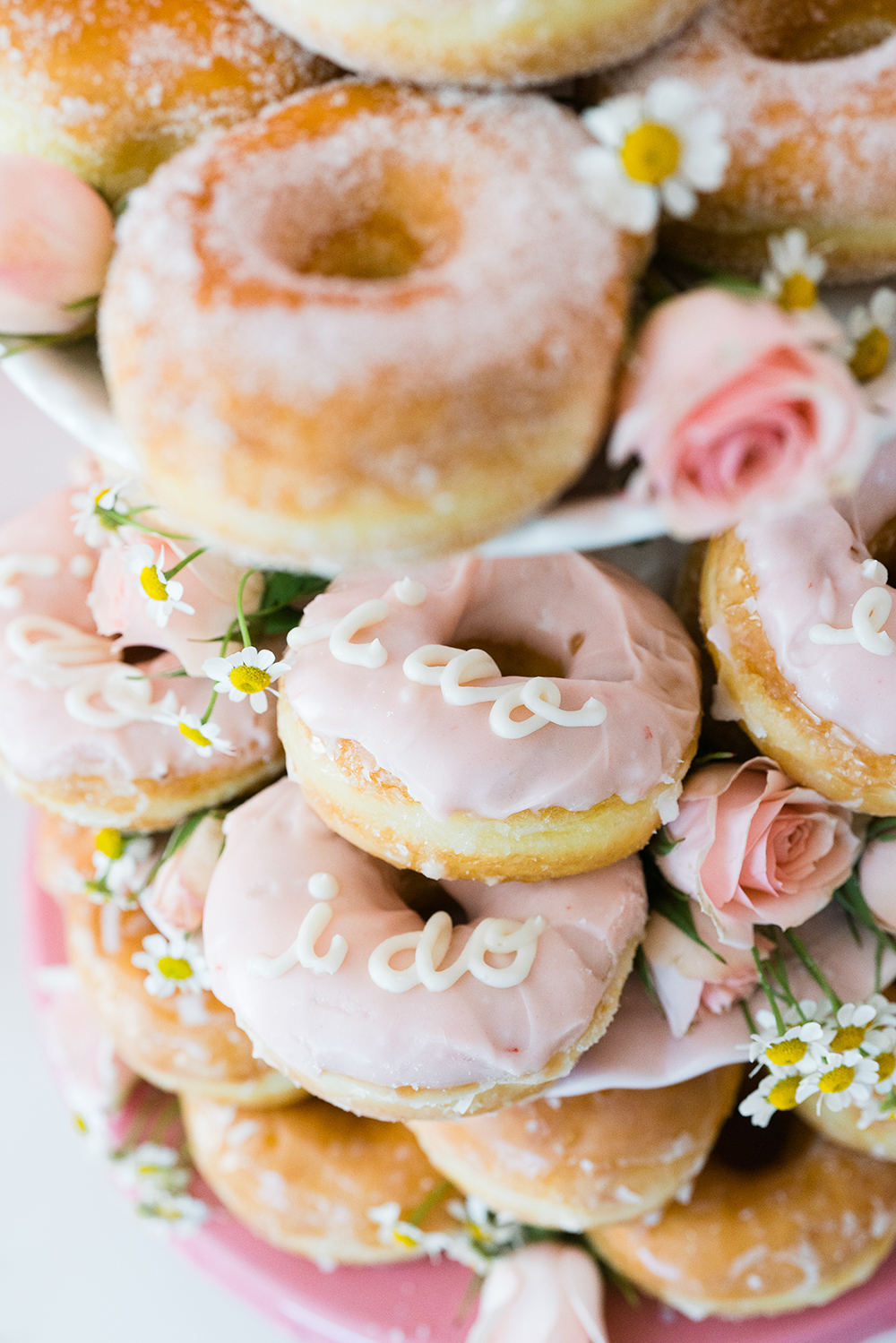 pink bridal shower donuts