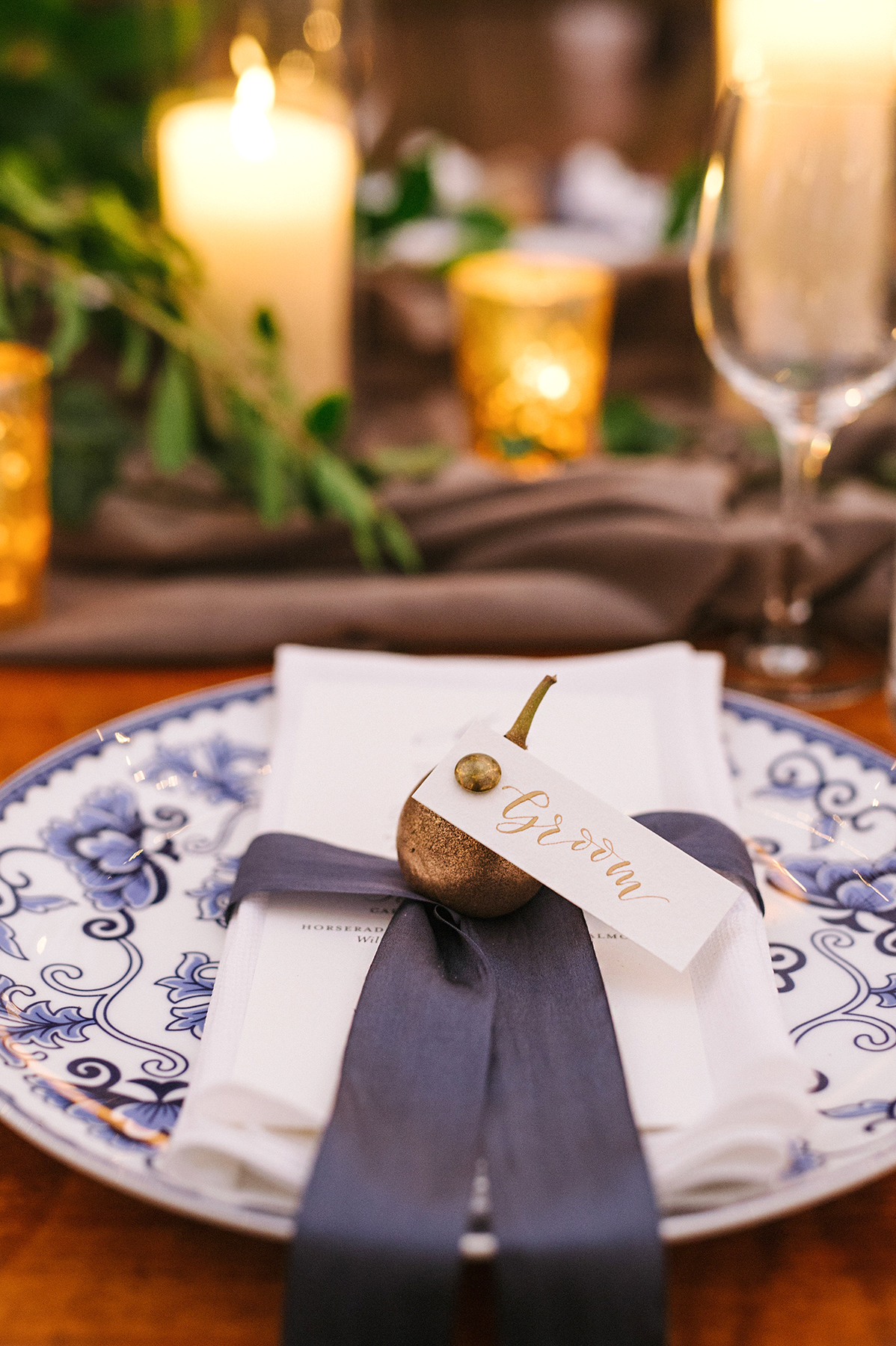 anne and staton wedding grooms place setting