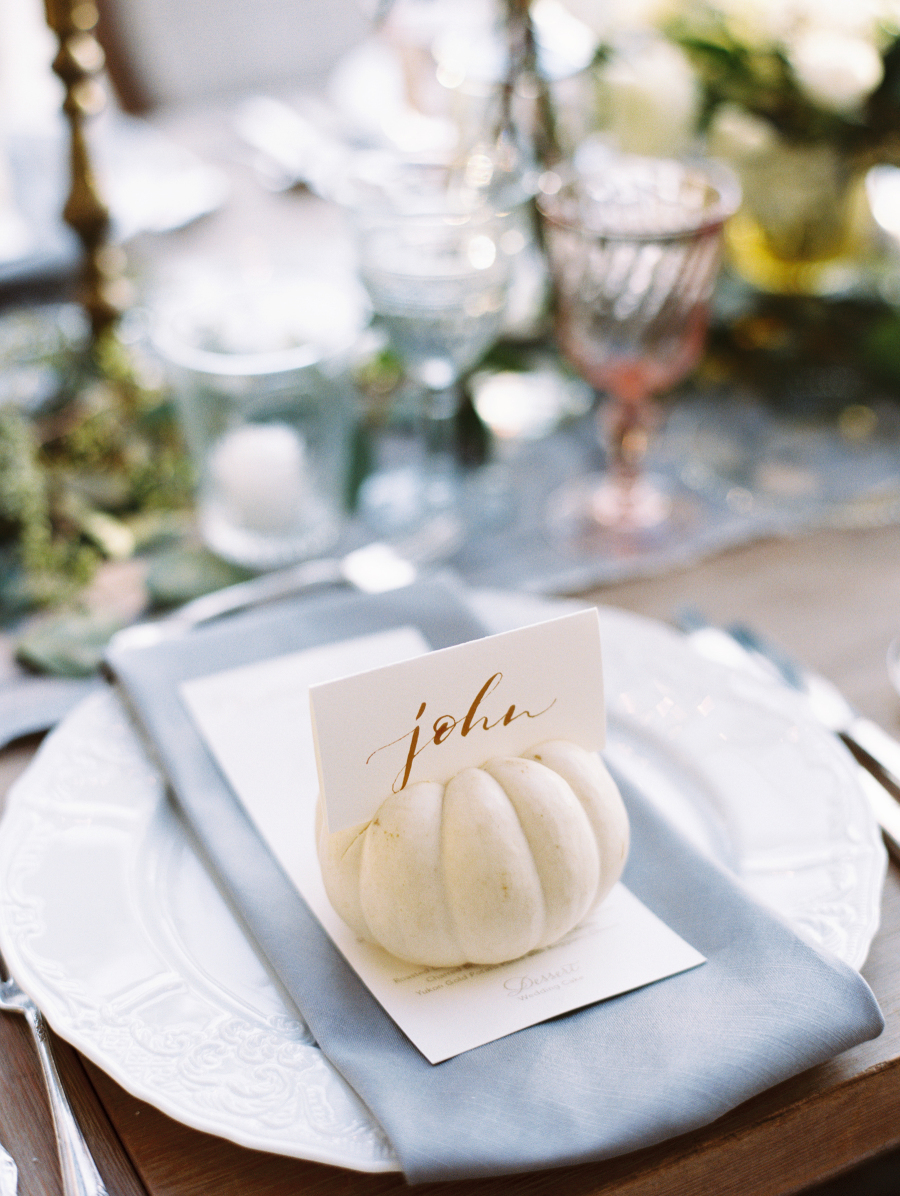 wedding place card small pumpkin