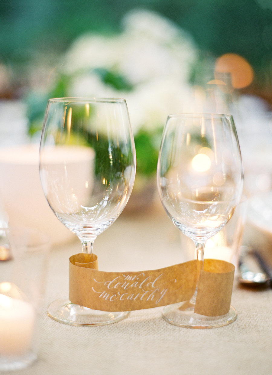 wedding place wine glasses