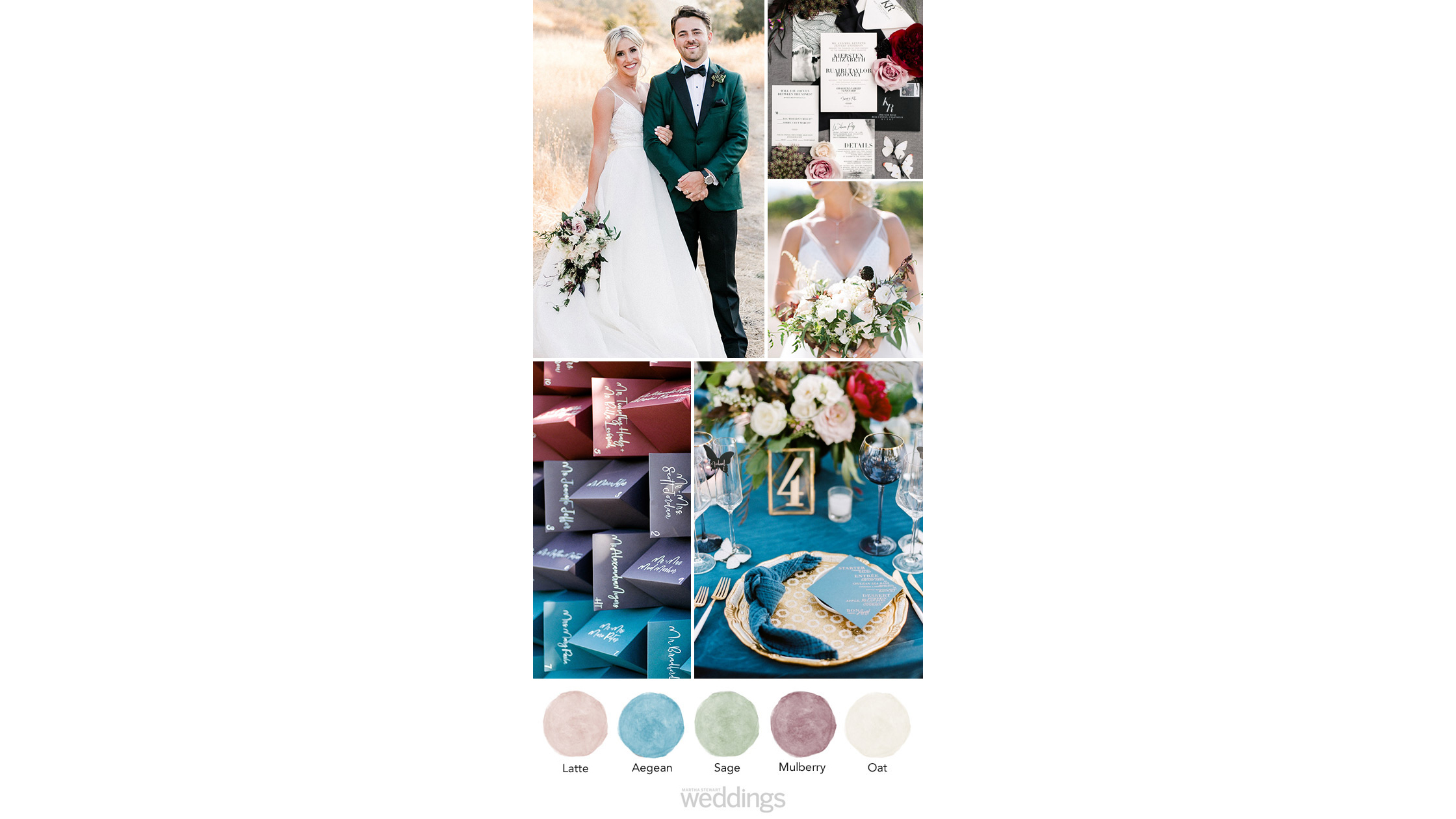 bold and saturated wedding color palette ideas