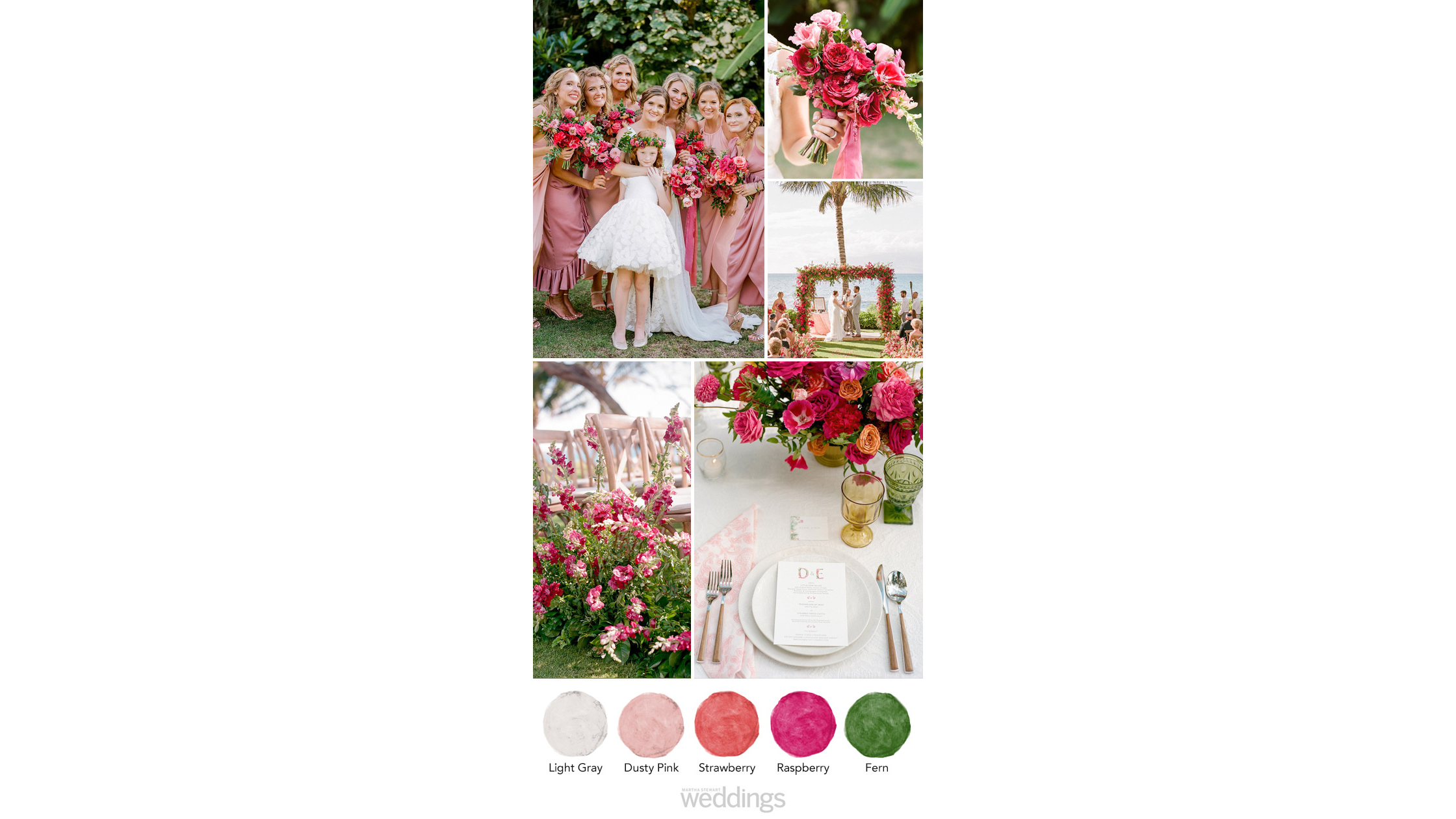 pink green wedding color palette ideas