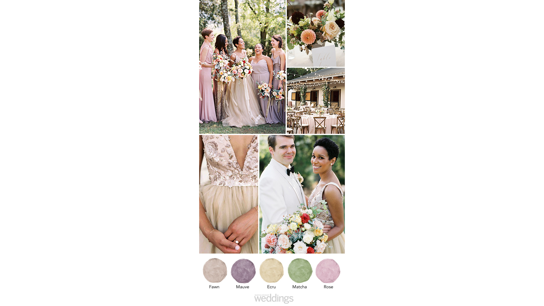 Mauve and Gold wedding color palette ideas