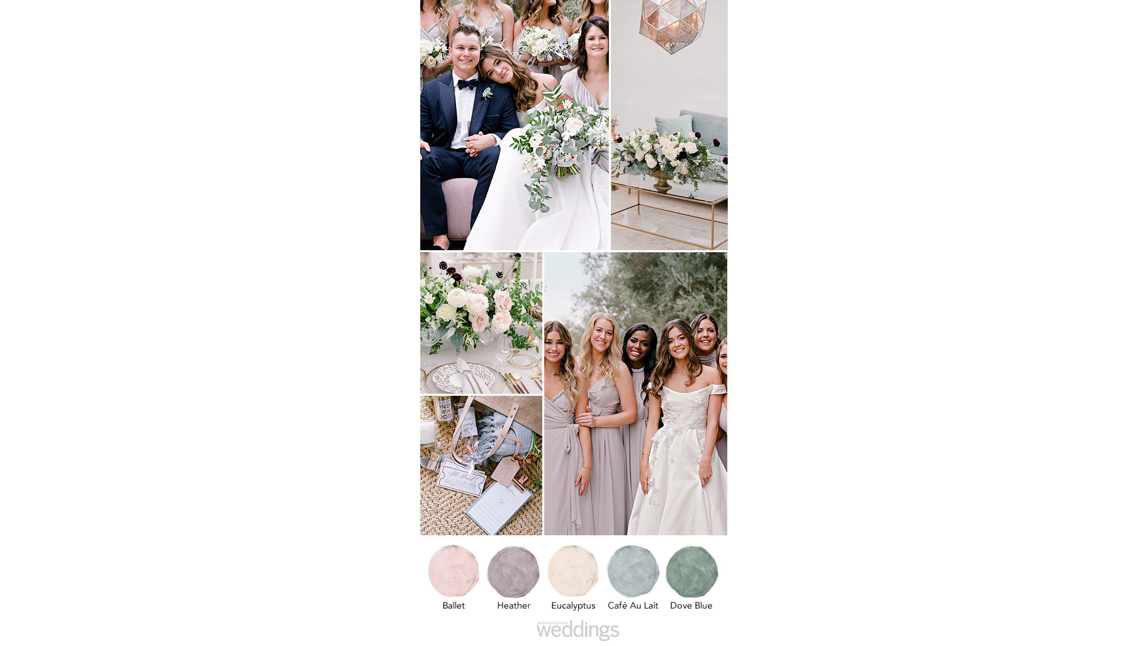 wintery purple wedding color palette ideas