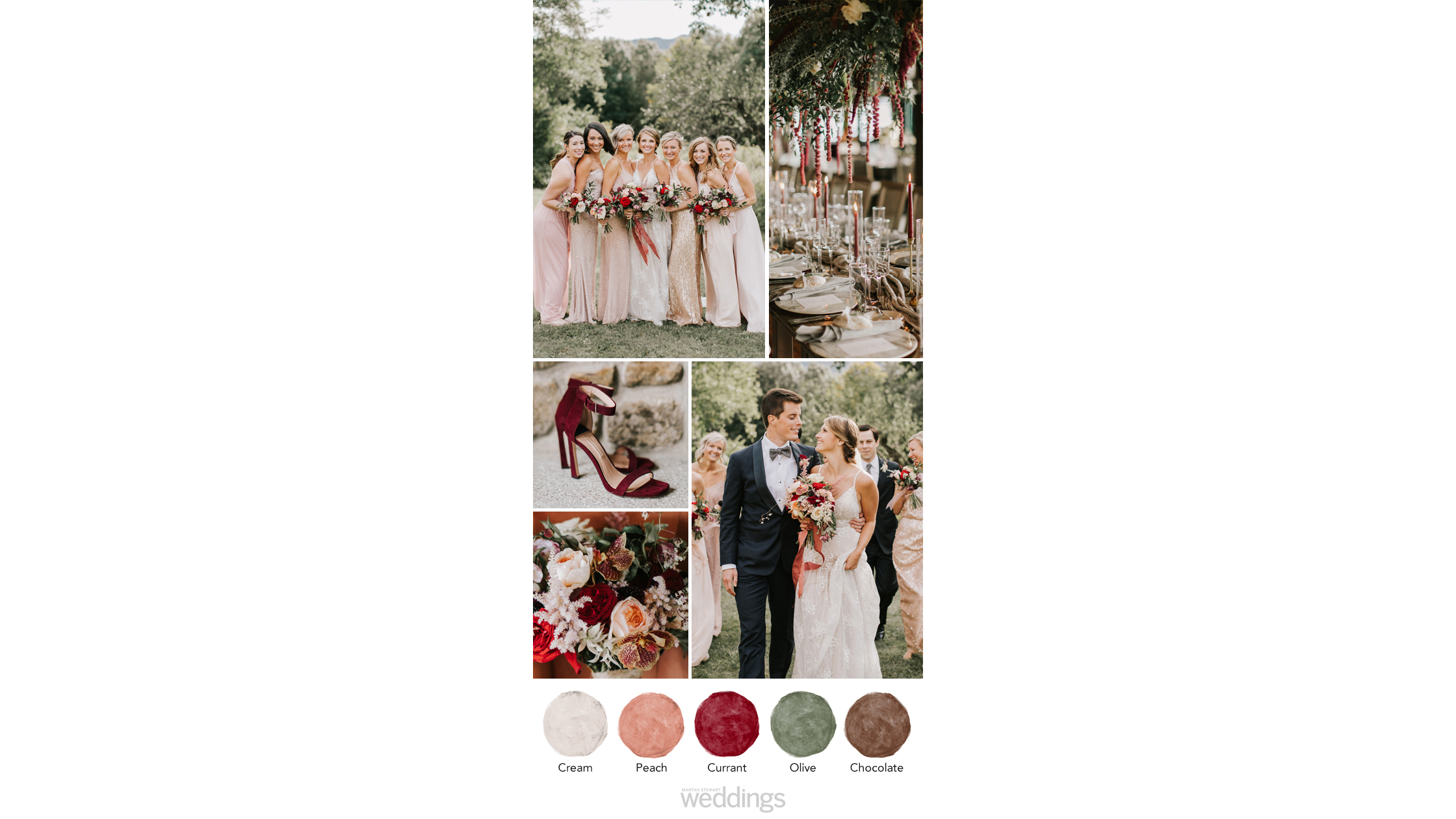 deep berry tones wedding color palette ideas
