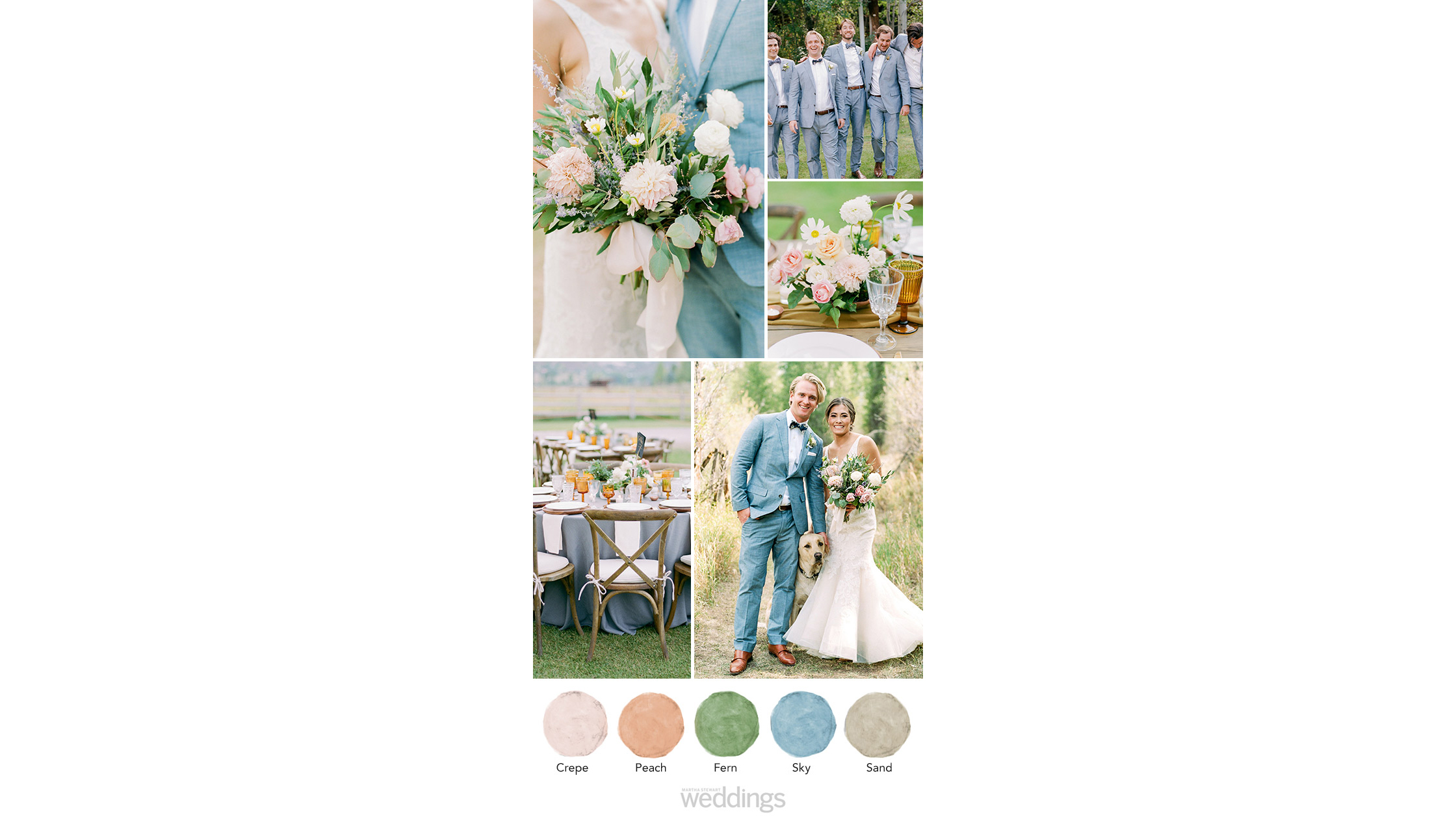 soft pink and blue wedding color palette ideas