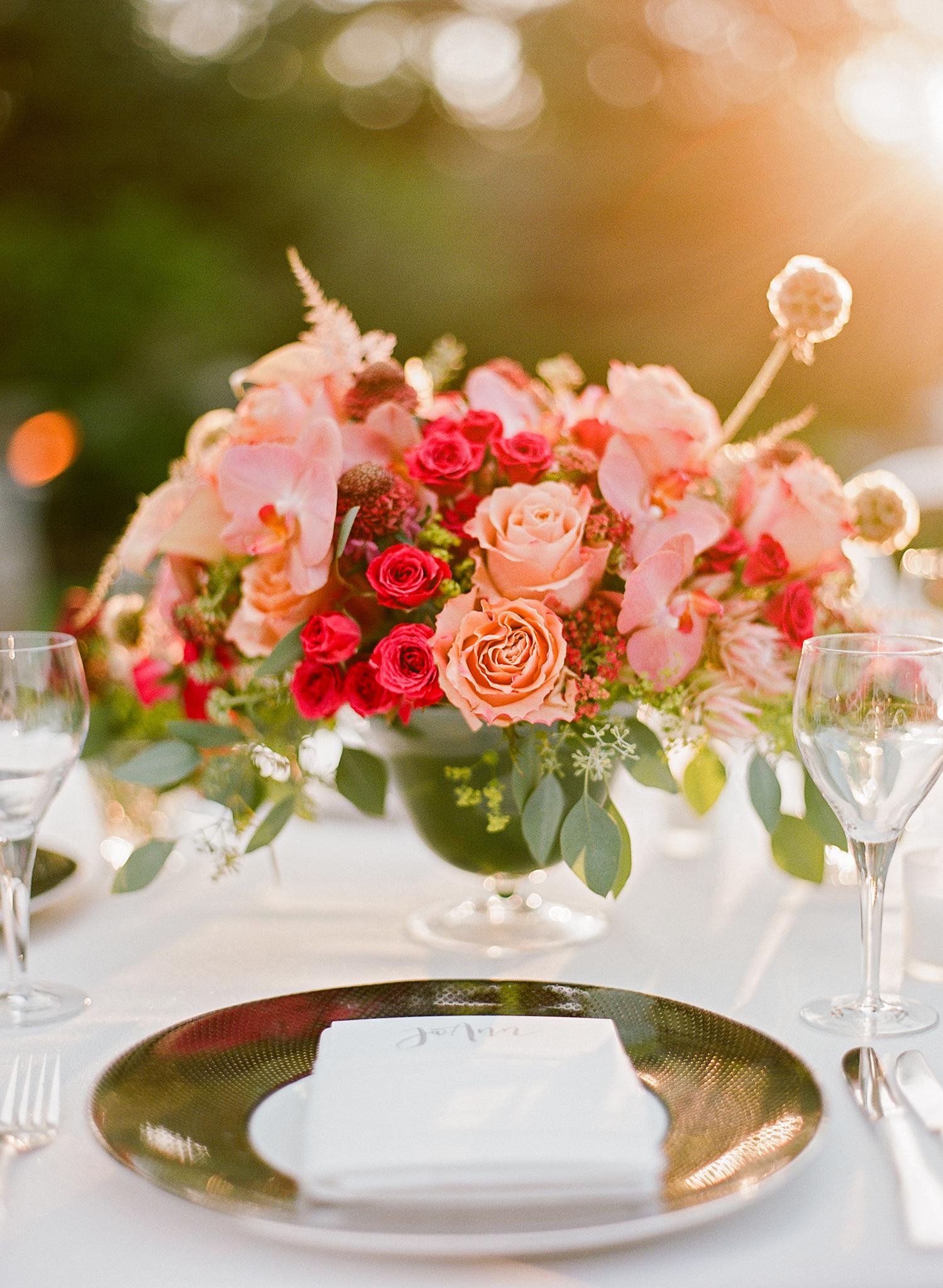 melissa michael pink floral centerpiece