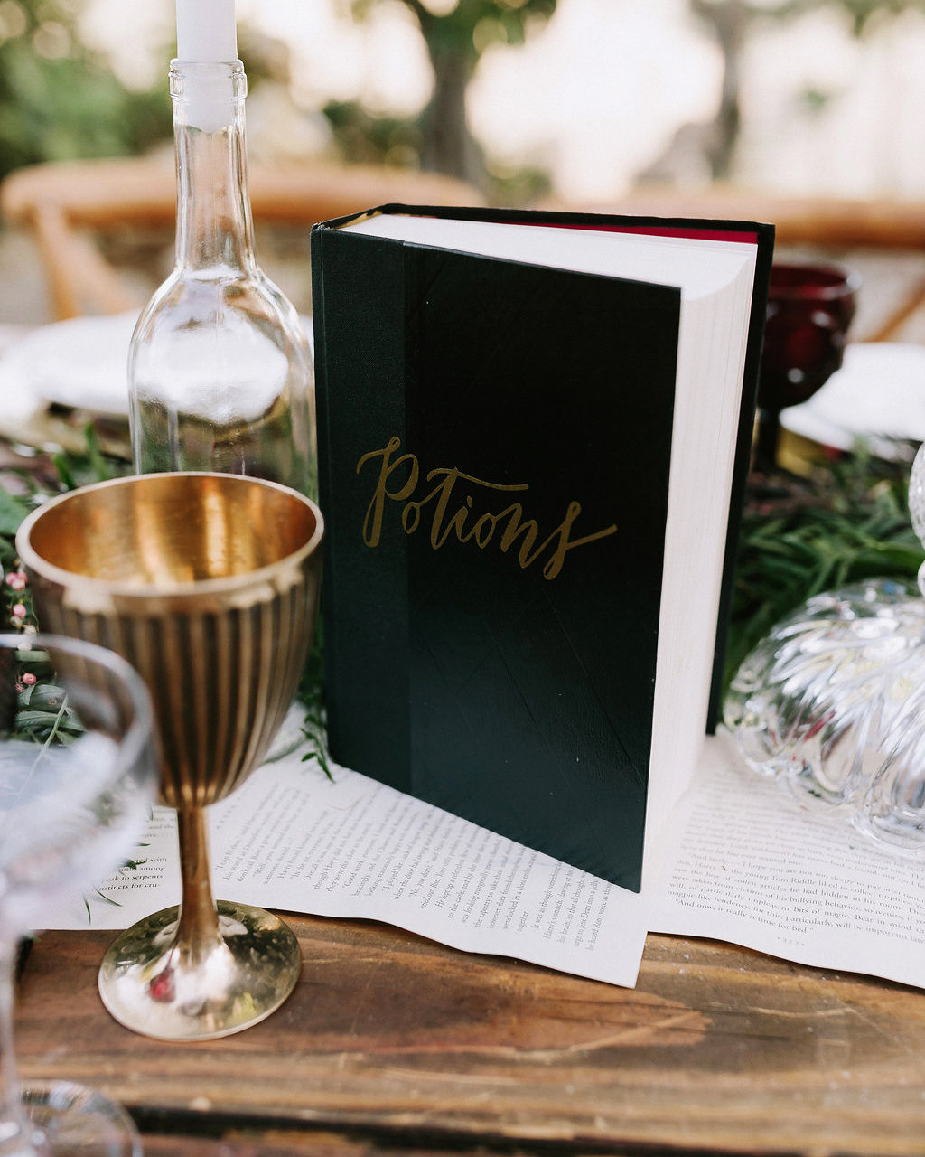wedding book table number