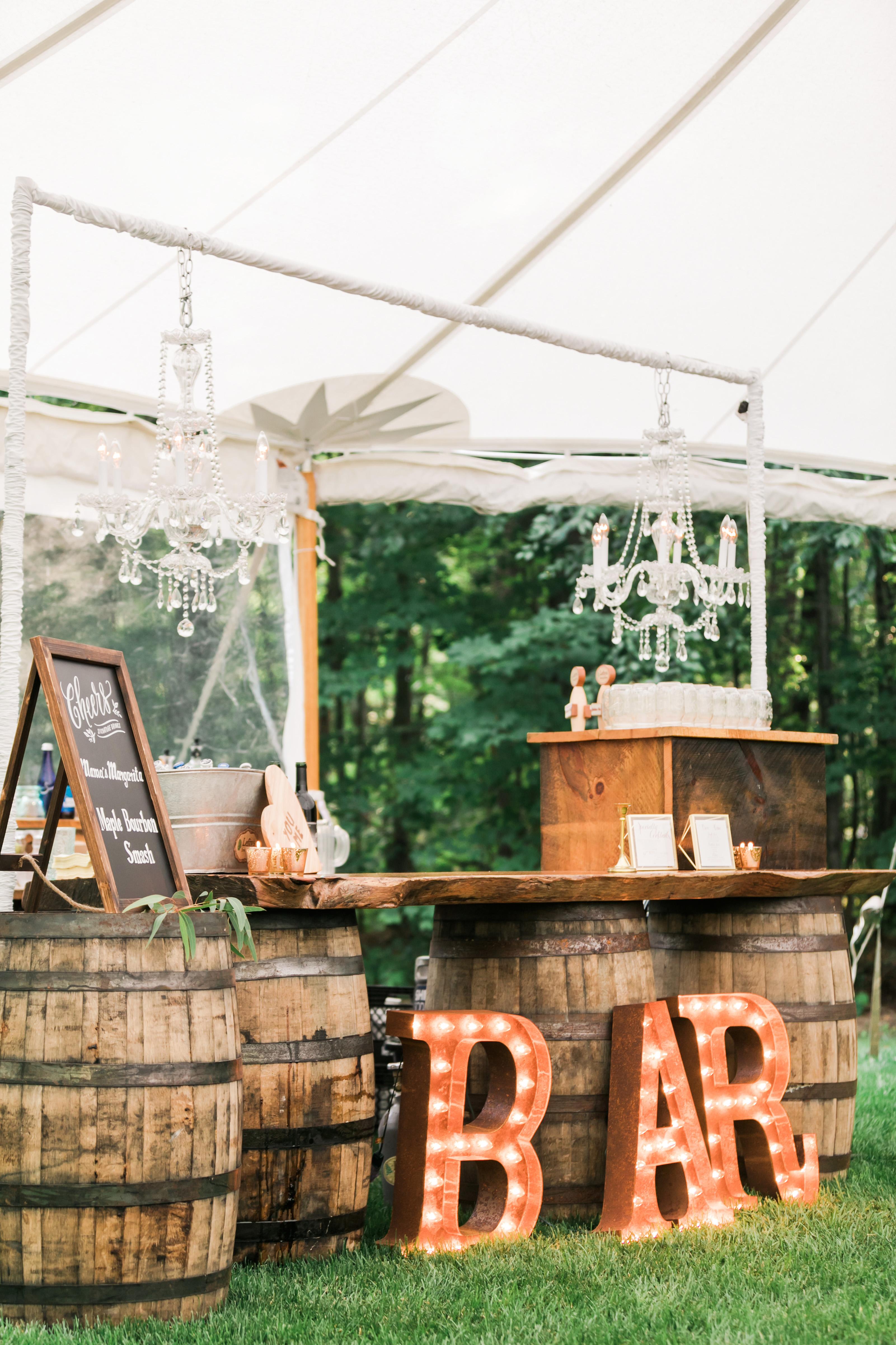 vanessa steven wedding bar