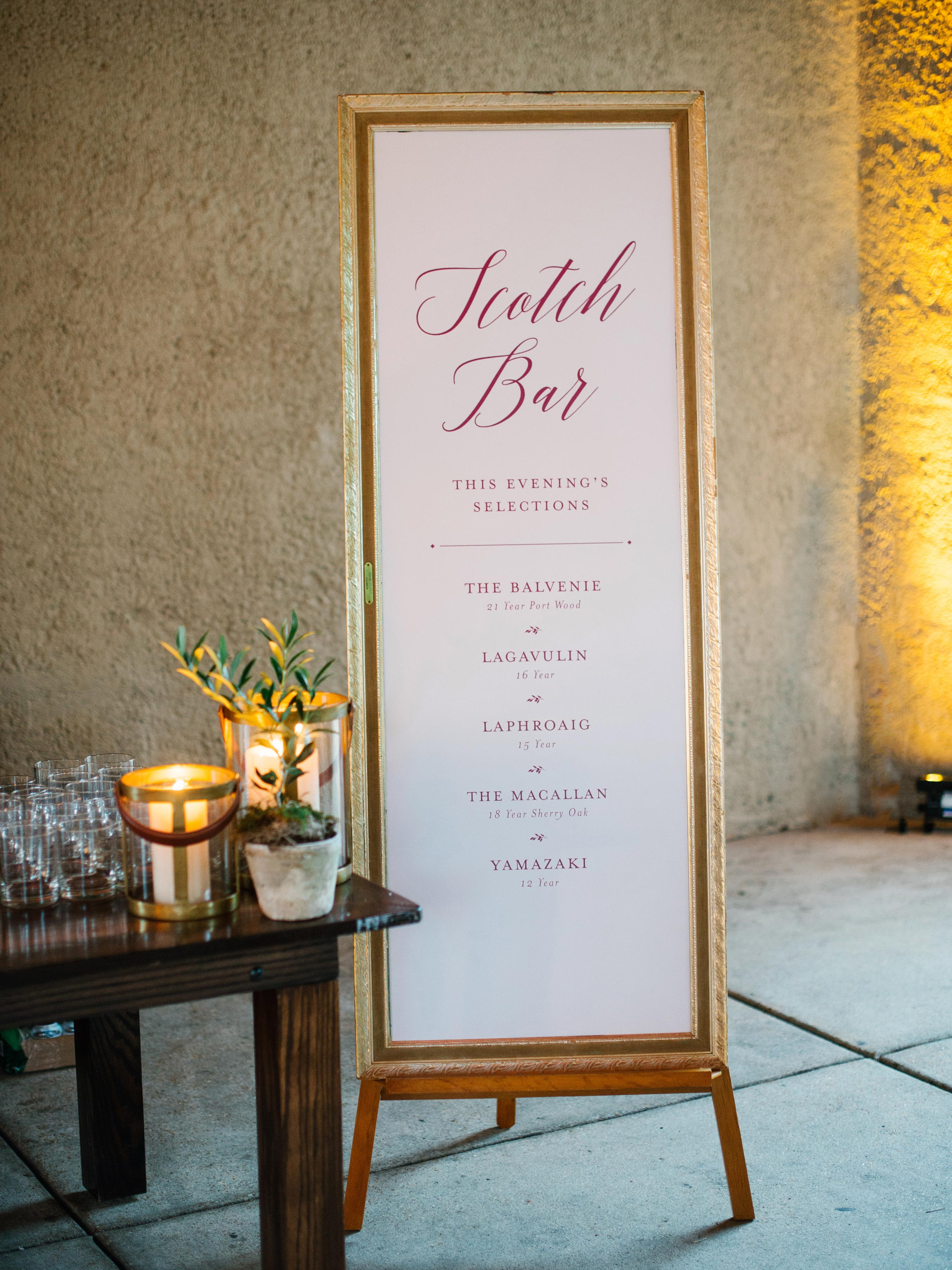 wedding scotch bar