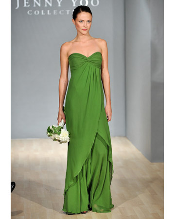 Green Empire Waist Dress