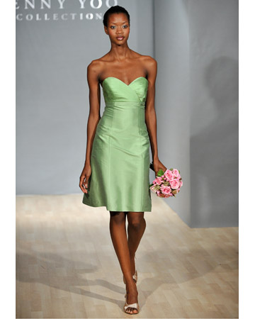 Light-Green Dress with Sweetheart Neckline