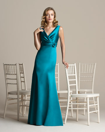 Long Teal Dress