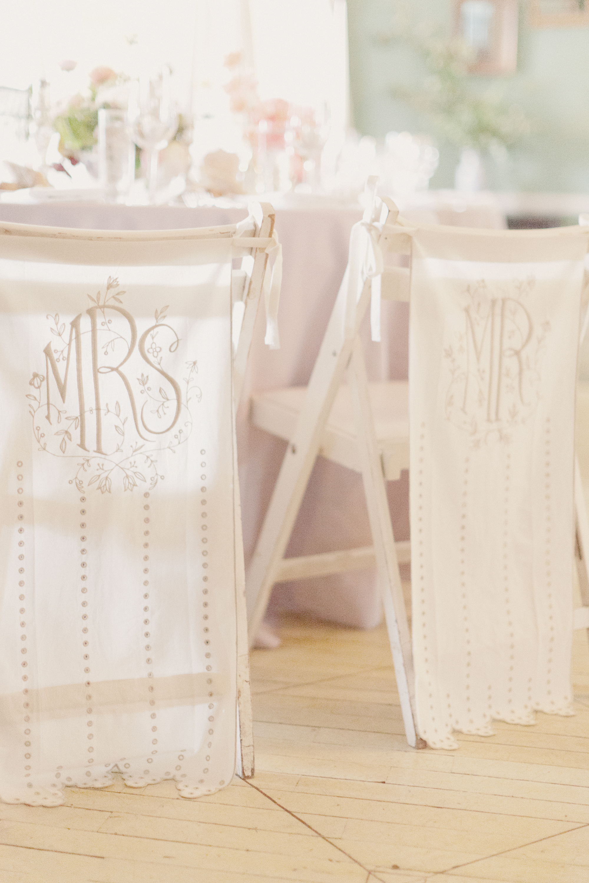 eyelet lace chair banners