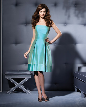 Seafoam-Green Strapless Dress