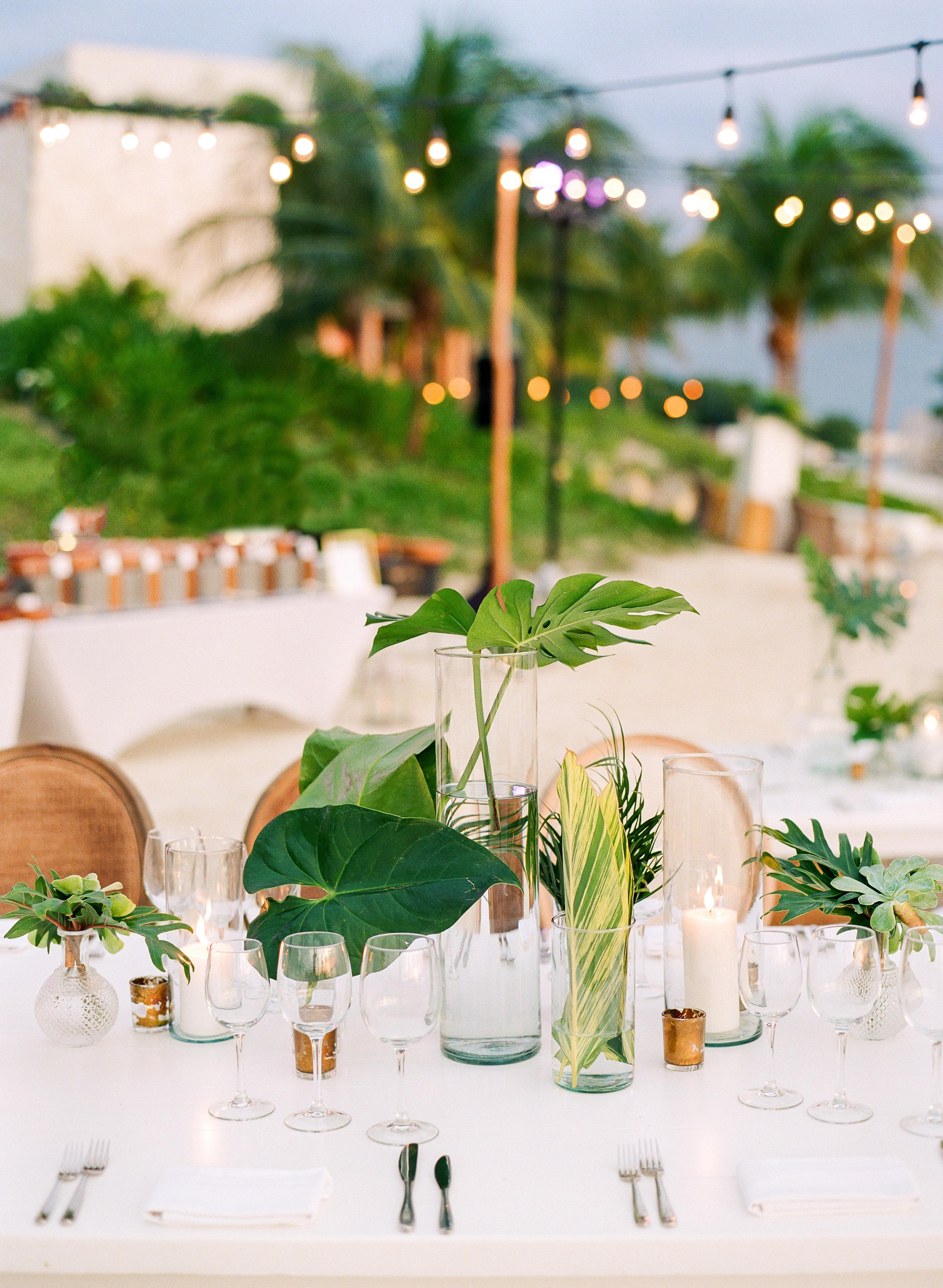 vicky james mexico leaf table decor