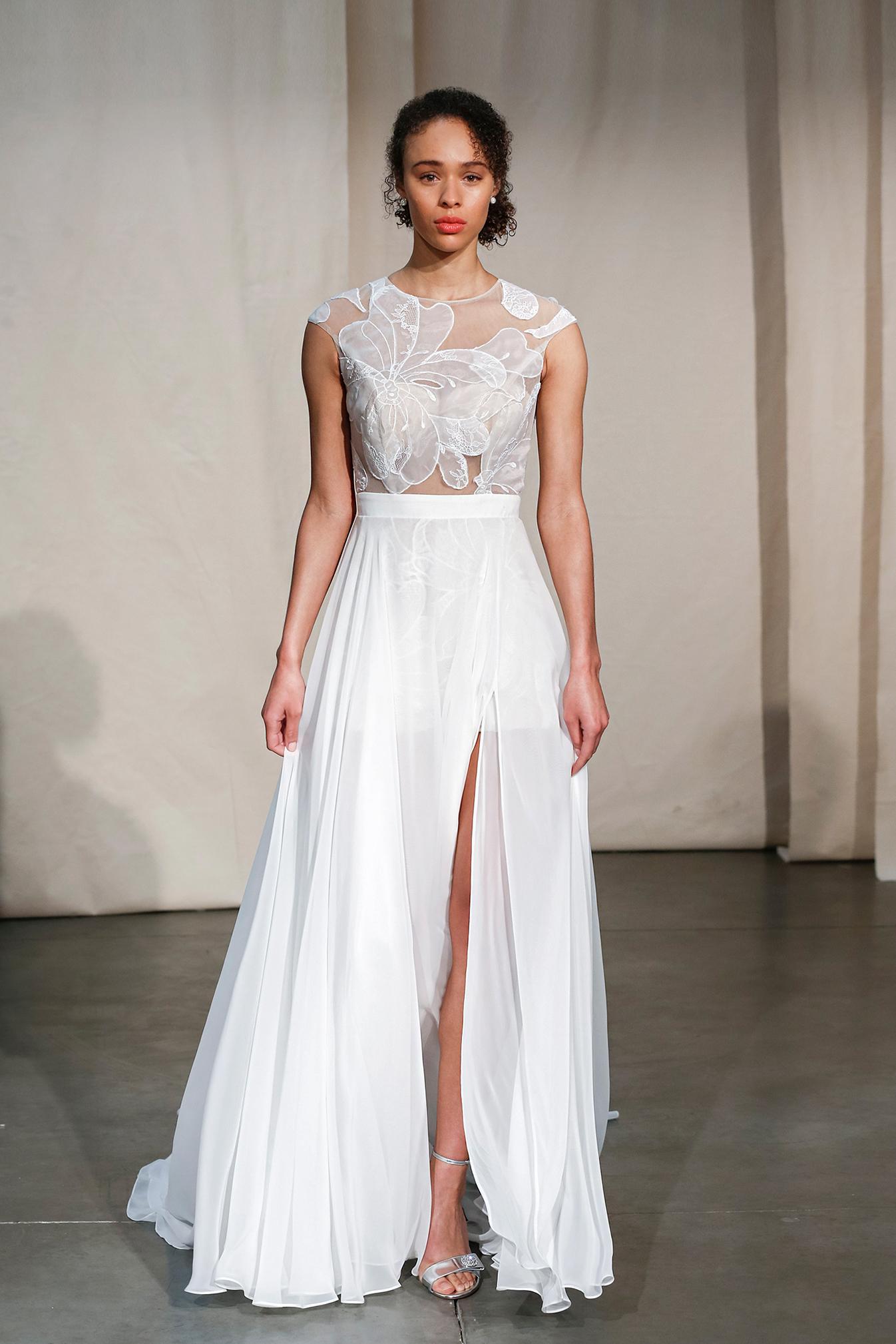 justin alexander embroidered illusion bodice wedding dress spring 2020