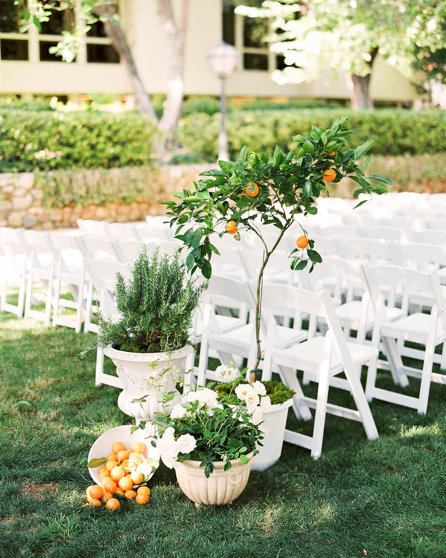 orange tree ceremony decoration