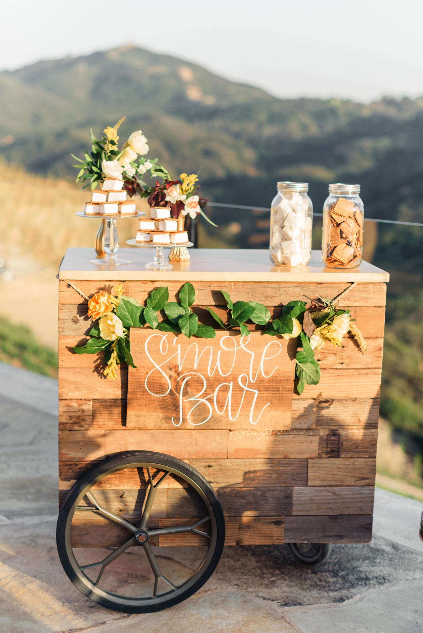 s'mores bar cart