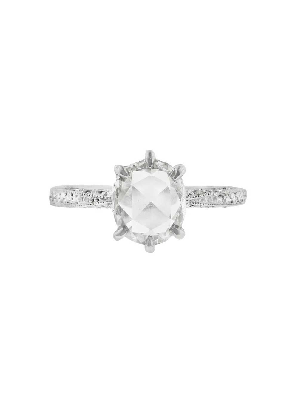 Cathy Waterman Rose Cut Diamond Band Ring