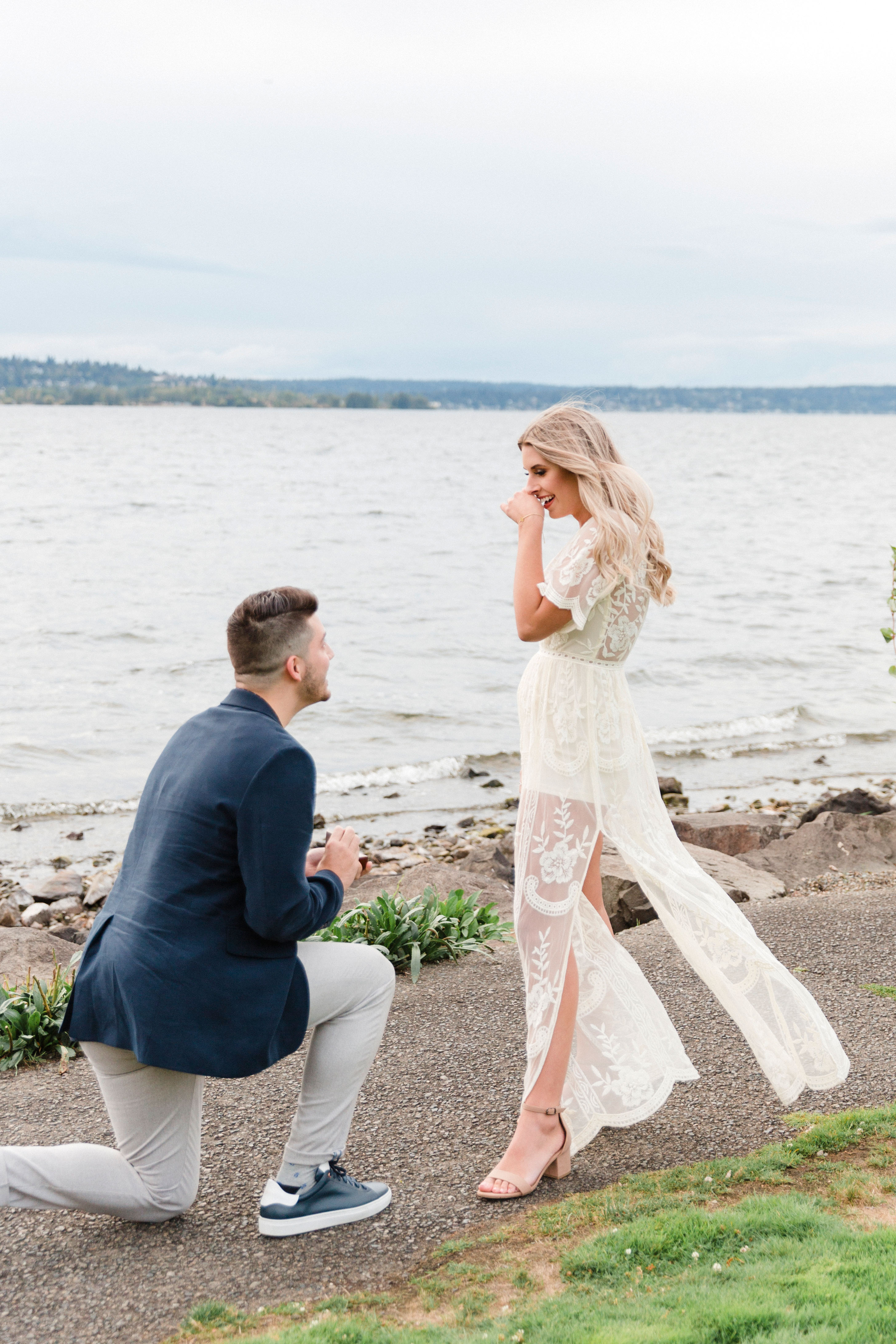 perfect proposals lakeside on walking path