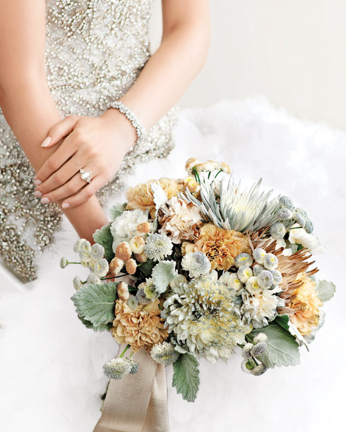 A Shimmering Bridal Bouquet