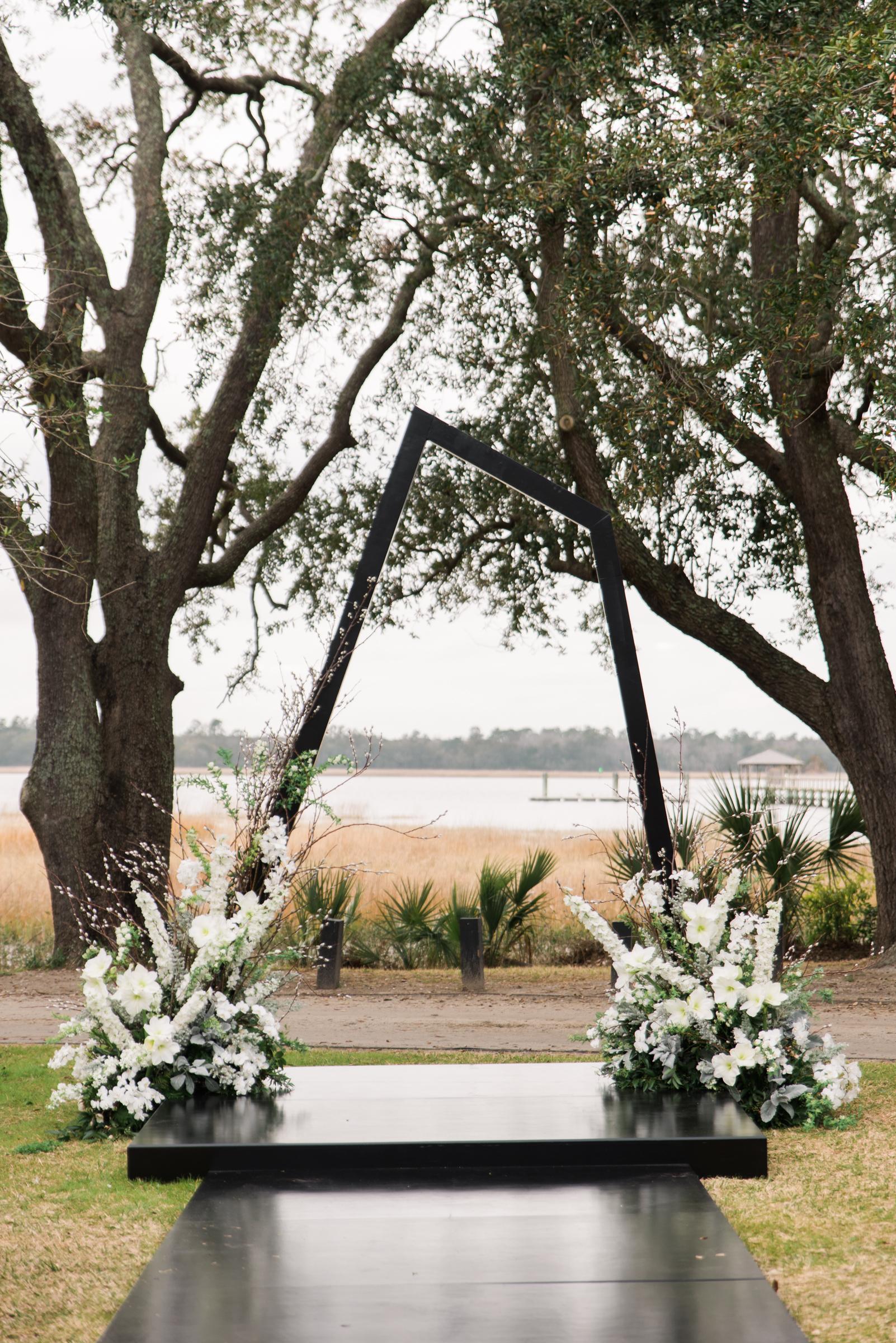 hamida charlie charleson wedding asymmetrical ceremony