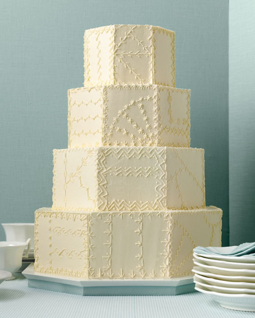 Crazy Quilt Wedding Cake