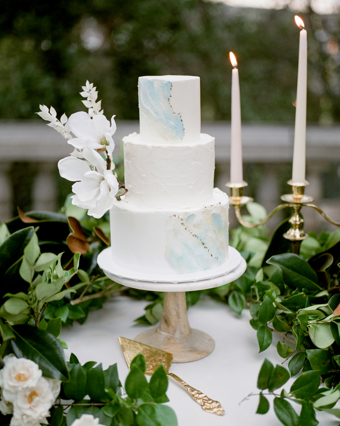 Marbled Tiered wedding cake
