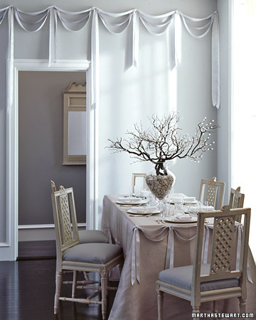 Graceful Gray Reception Table