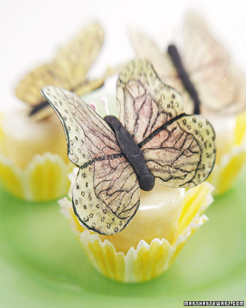 Petits-Fours with Butterflies