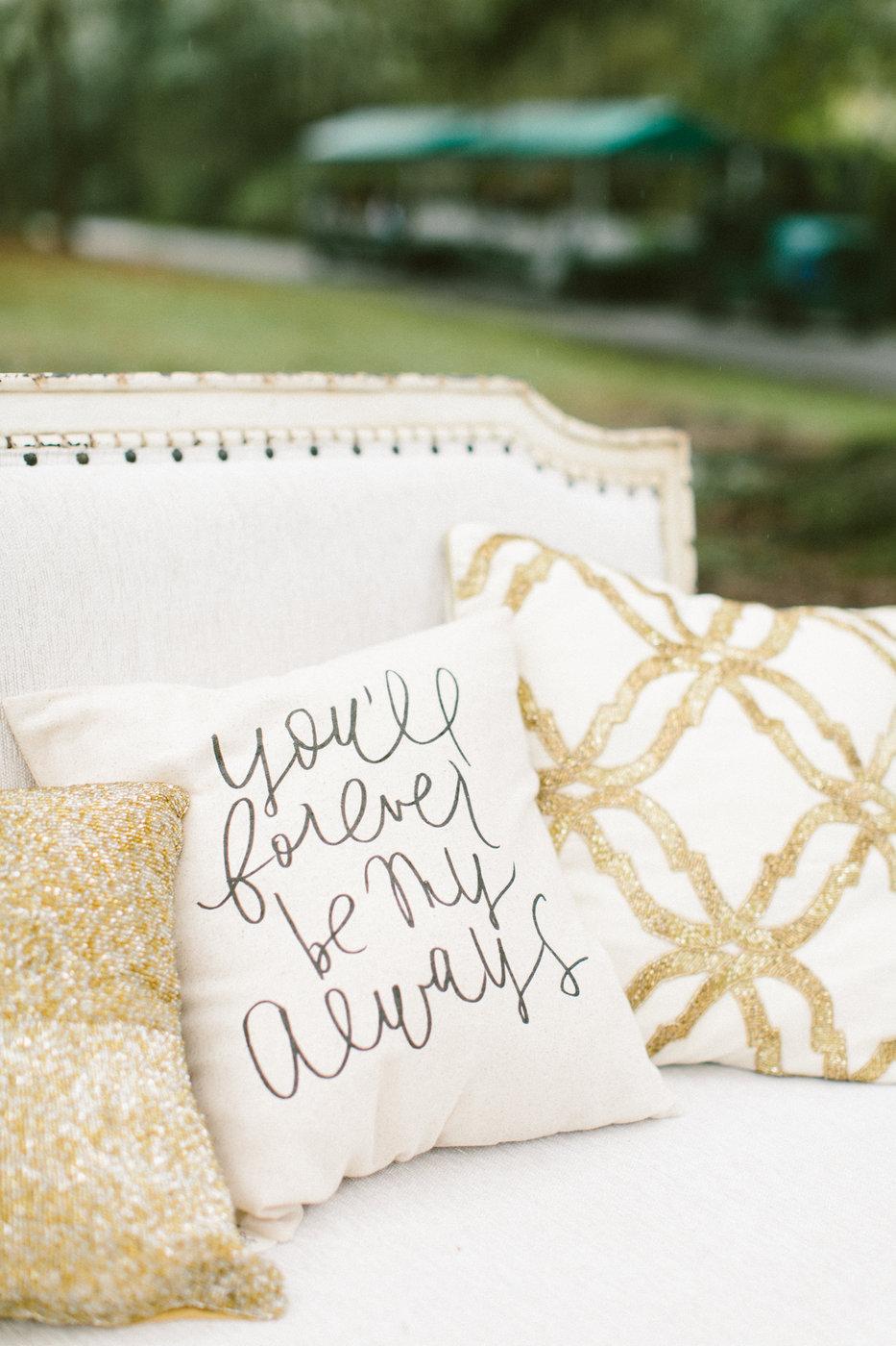 sparkling wedding pillows