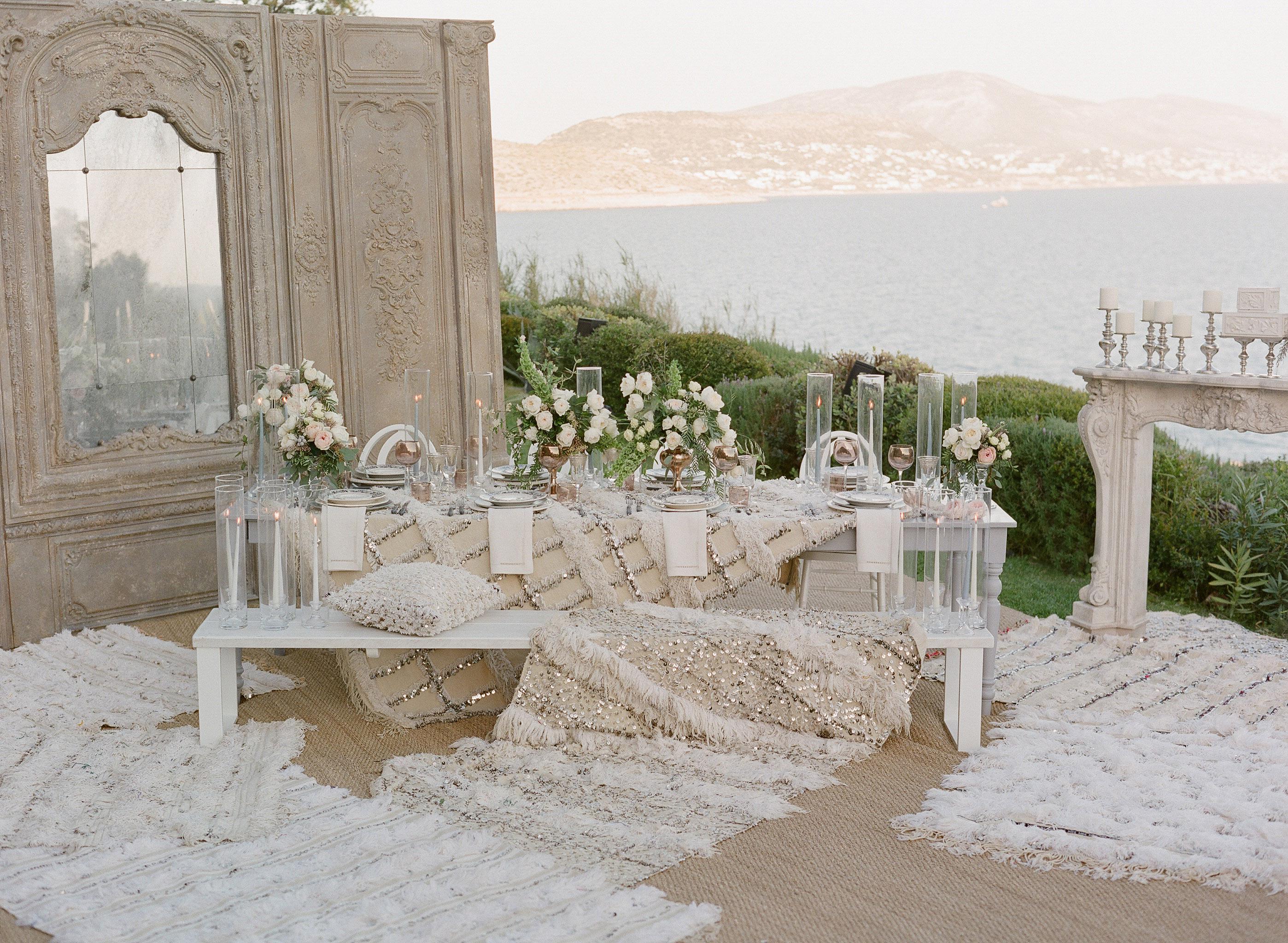 sparkling wedding décor