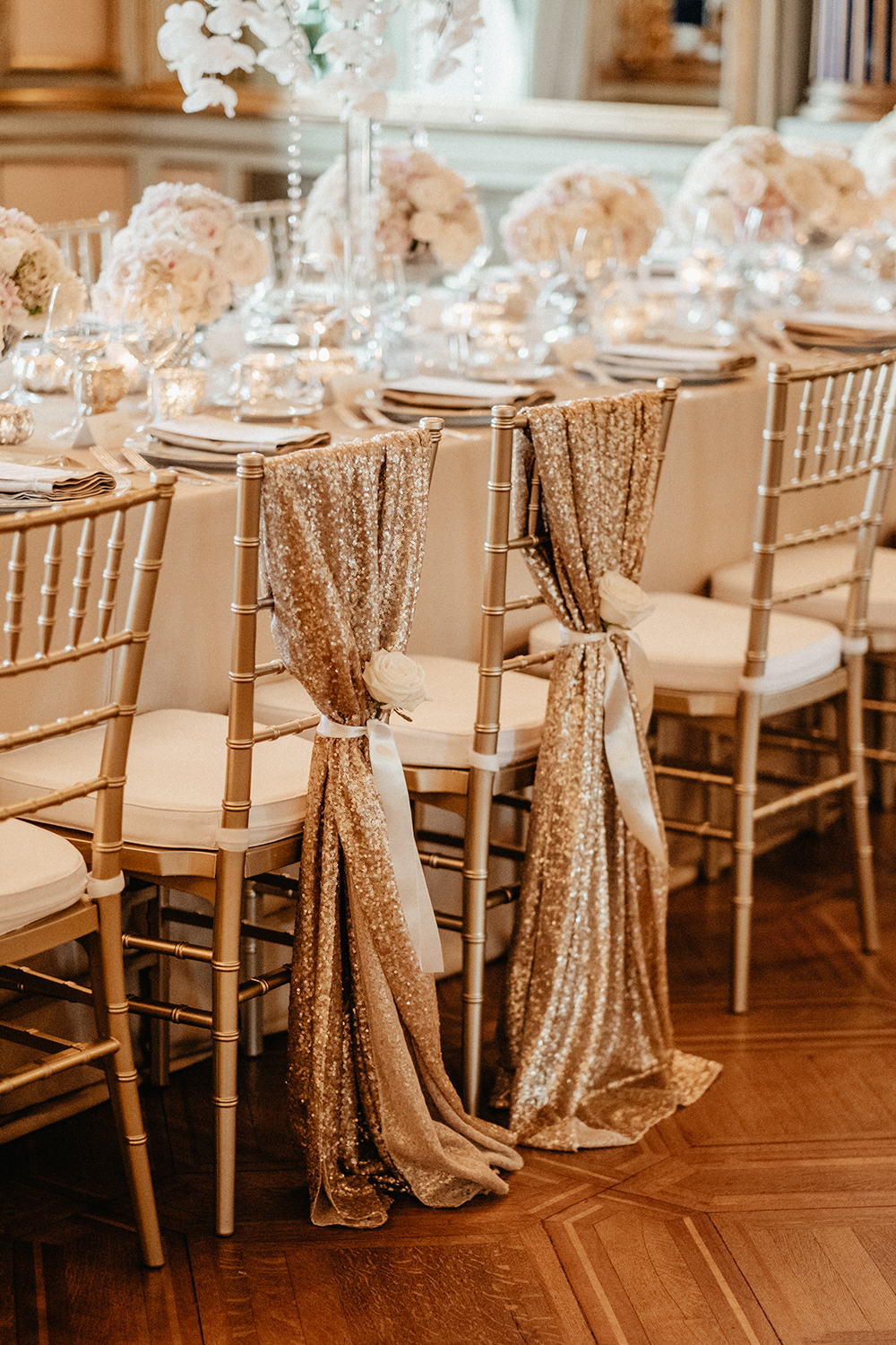 sparkling chair decorations
