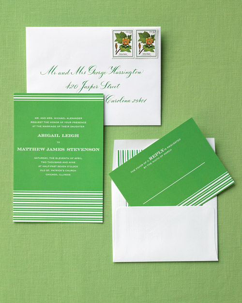 Striped Invitations