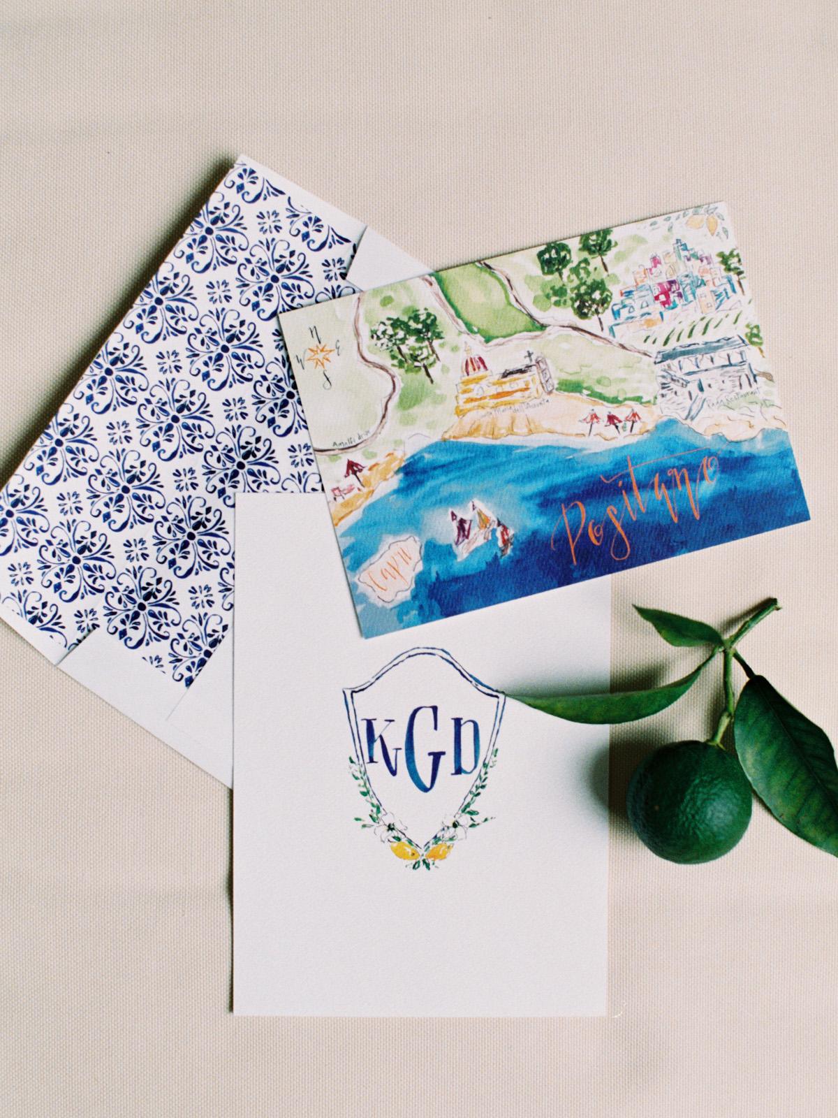 destination inspired wedding invitations vacation painting