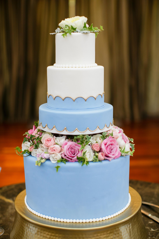 periwinkle wedding cake