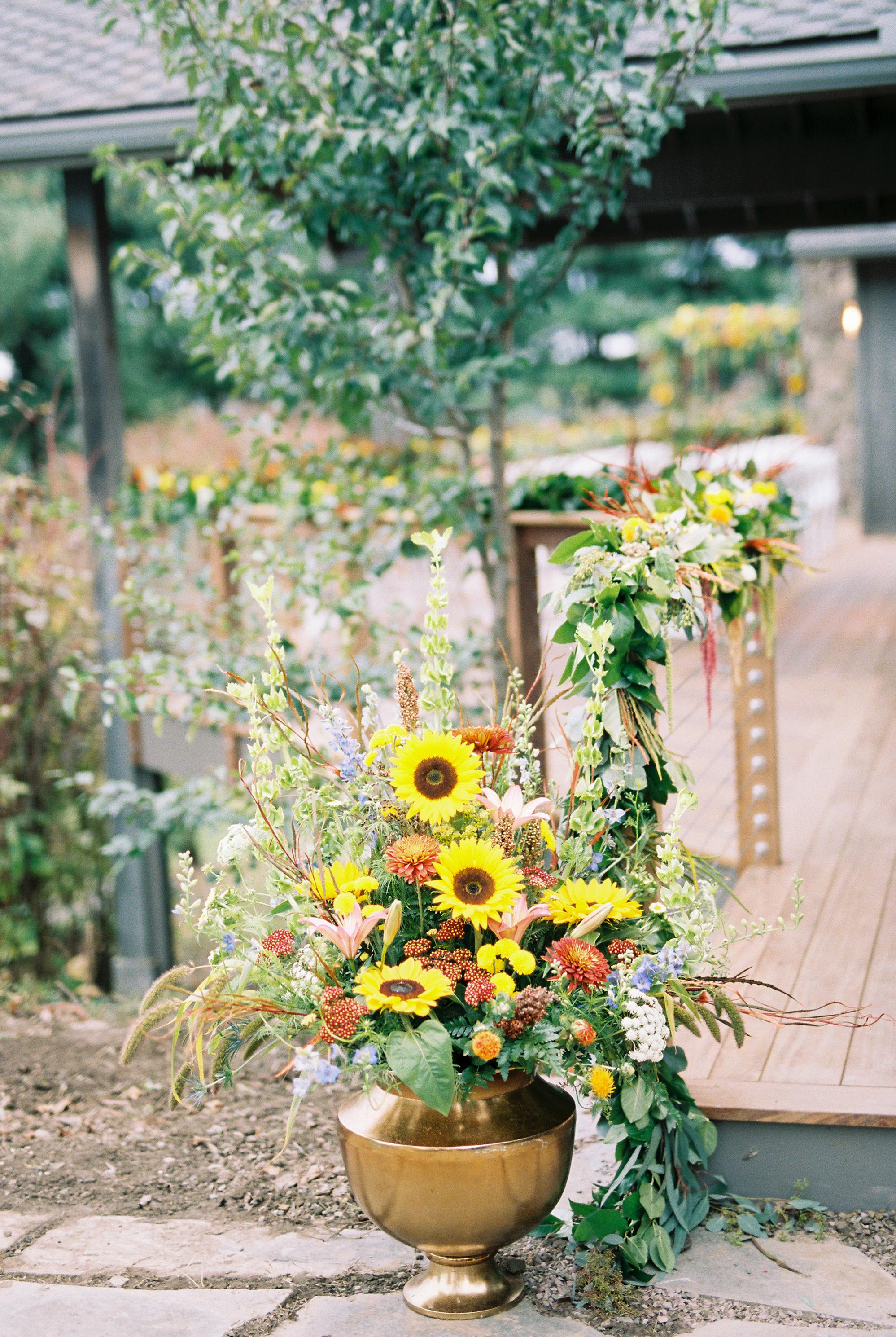yellow wedding ideas du soleil