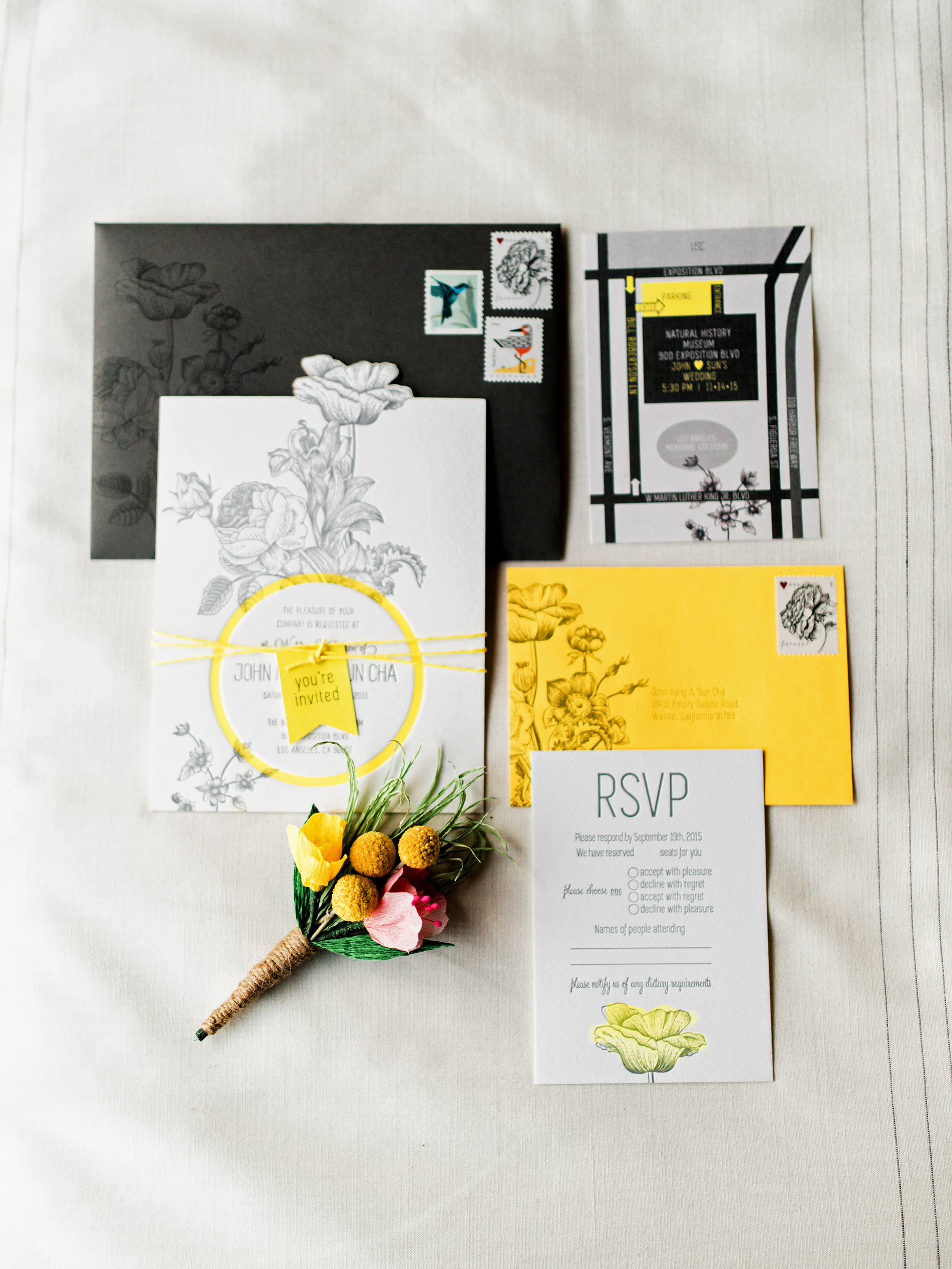 yellow wedding ideas ether and smith