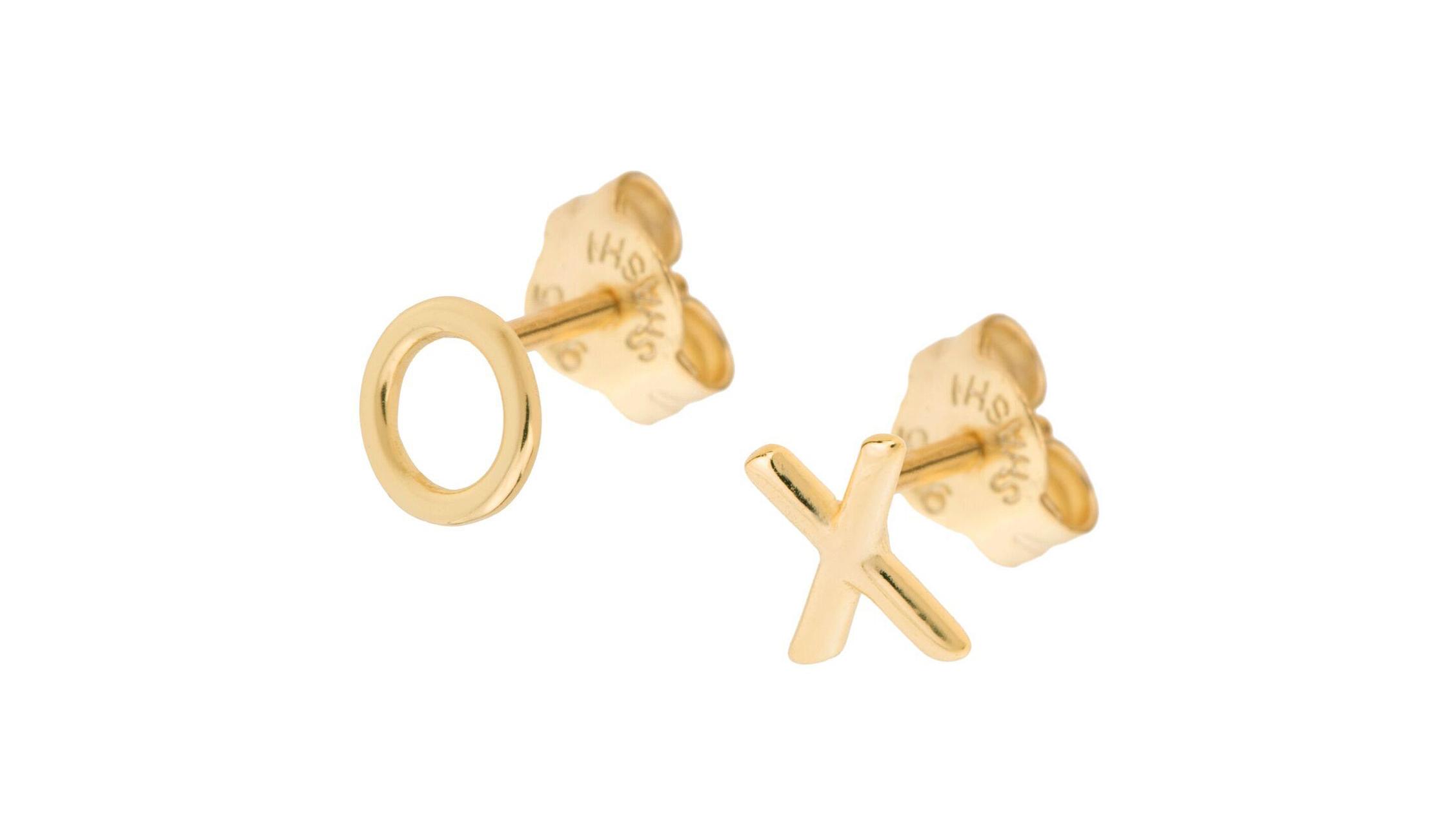 """Shashi """"XO"""" Earrings"""