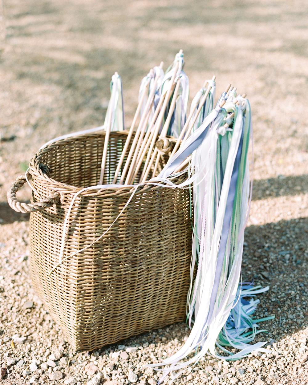 ribbon wedding ideas ribbon wands in a basket