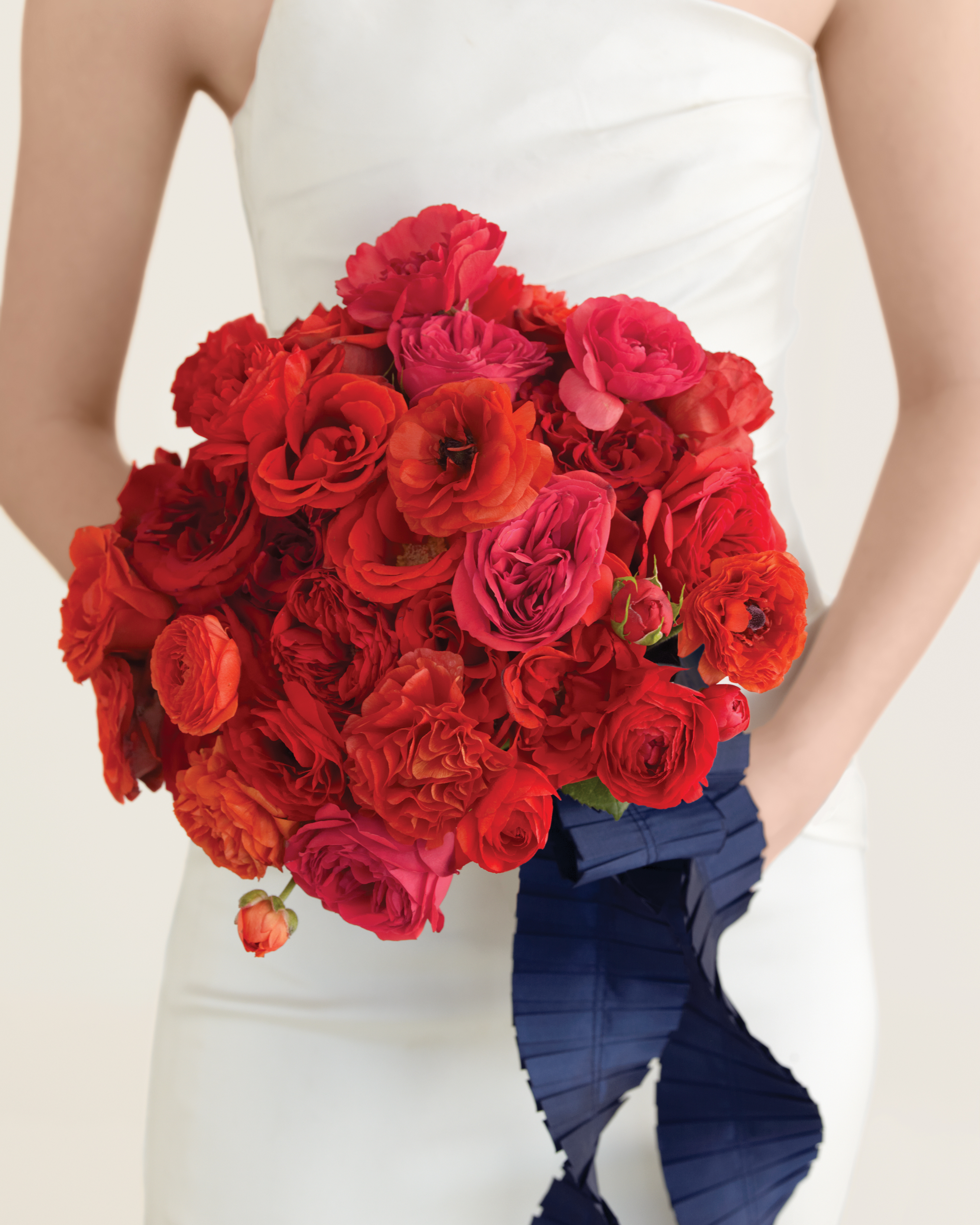 Red Peony Wedding Bouquet