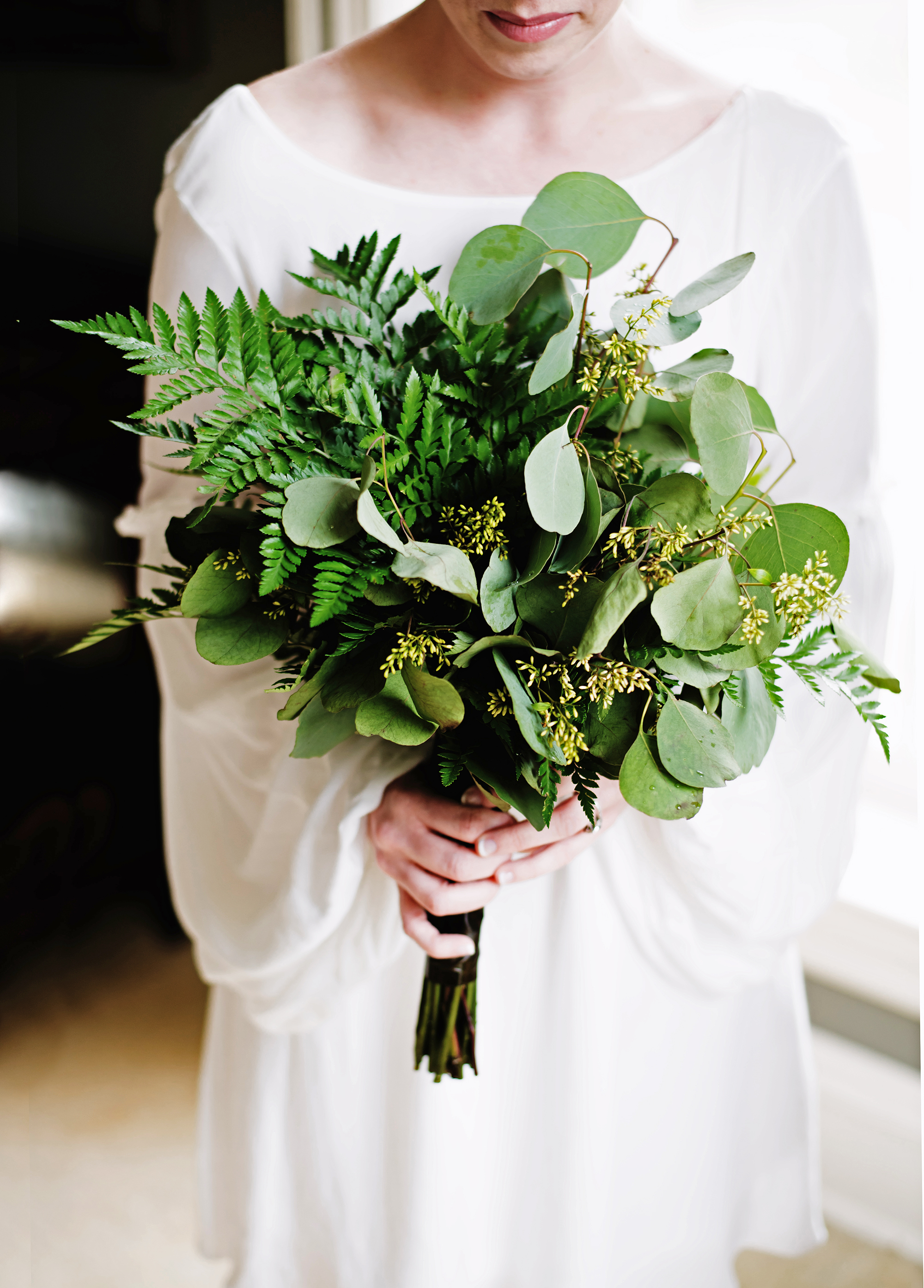 nonfloral wedding bouquets layers photo