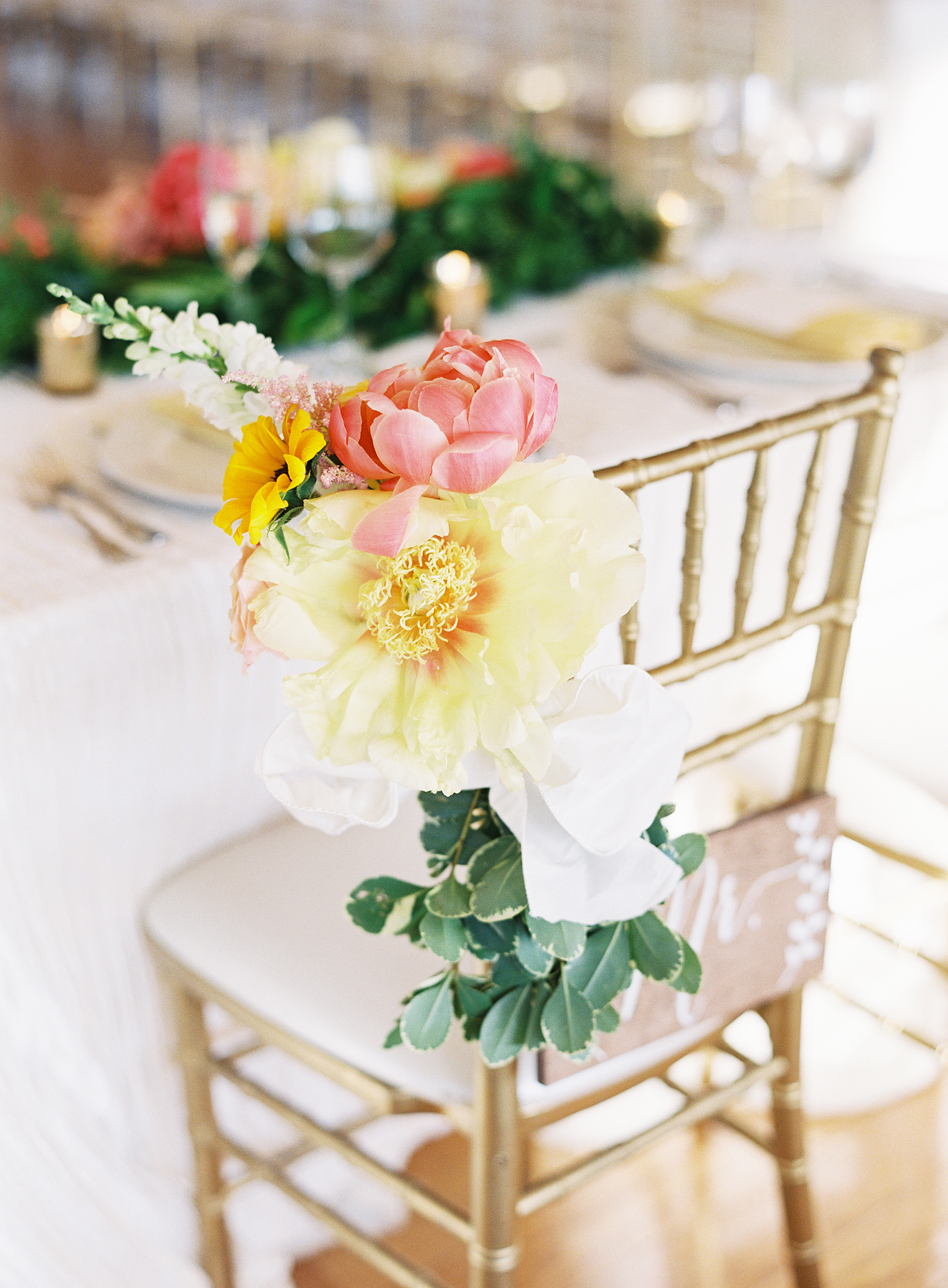 Chair Decor Oversized Flowers