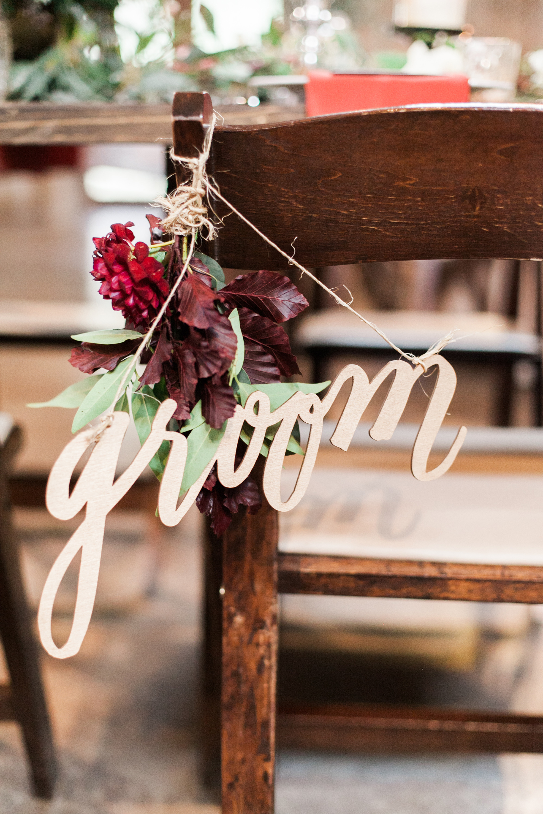 Chair Decor Groom Sign