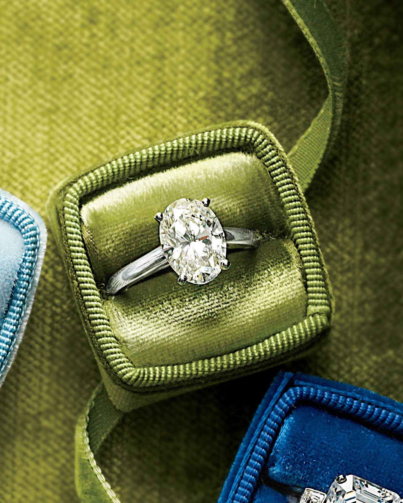 Oval-Shaped Diamond Engagement Ring