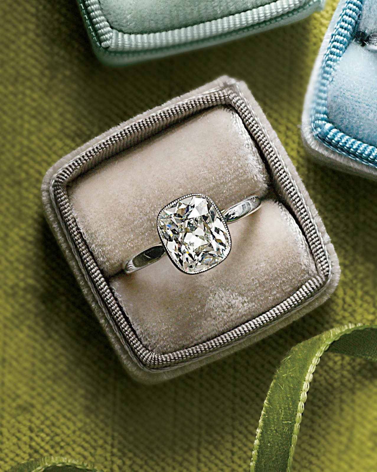 Cushion-Cut Diamond Engagement Ring