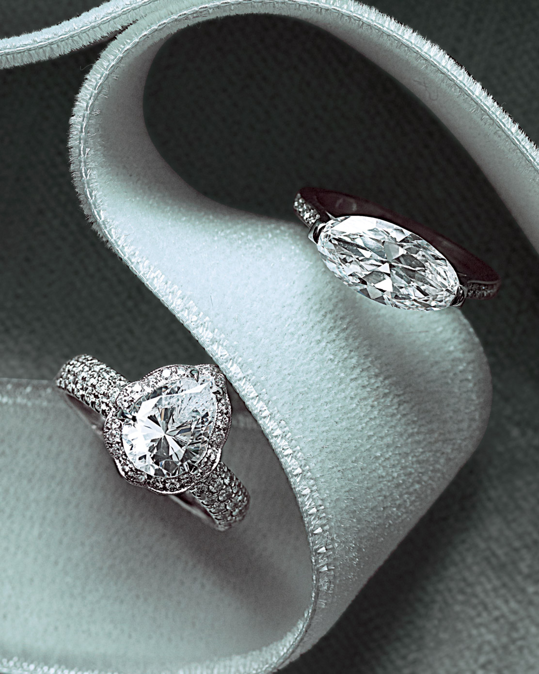 Unique-Shaped Diamond Engagement Rings